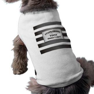 Plantilla de la camiseta de la camiseta del perro camiseta sin mangas para perro