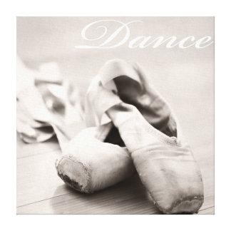Plantilla de la danza de los zapatos de Pointe del Impresión En Lona