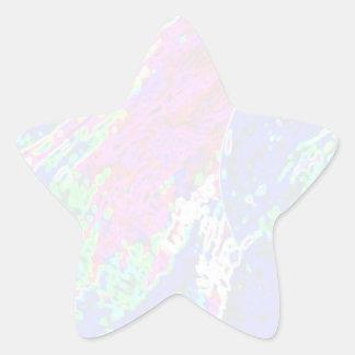 Plantilla de la estrella de NOVINO - ondas Colcomanias Forma De Estrellaes
