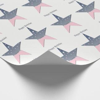 Plantilla de la estrella del cumpleaños papel de regalo