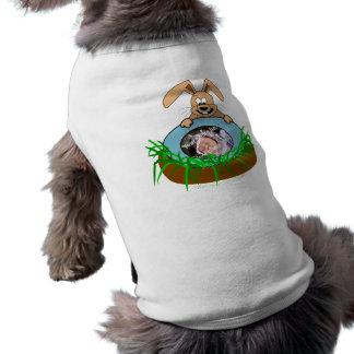 Plantilla de la foto de la invitación del bebé del camiseta sin mangas para perro