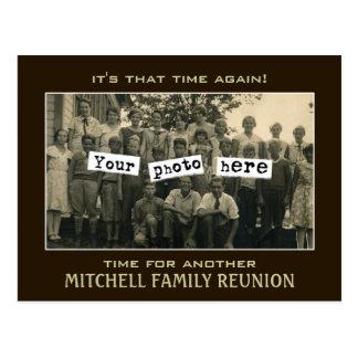 Plantilla de la foto de la reunión de familia postal