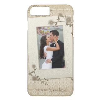 Plantilla de la foto del boda del vintage funda para iPhone 8 plus/7 plus