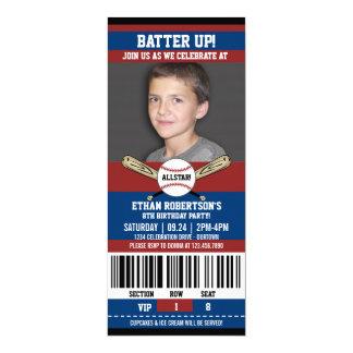 Plantilla de la foto del cumpleaños del béisbol