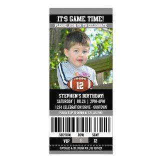 Plantilla de la foto del cumpleaños del fútbol invitación 10,1 x 23,5 cm