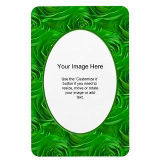 Plantilla de la foto - marco esmeralda del rosa imanes de vinilo