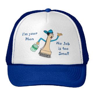 Plantilla de la gorra de béisbol del pintor