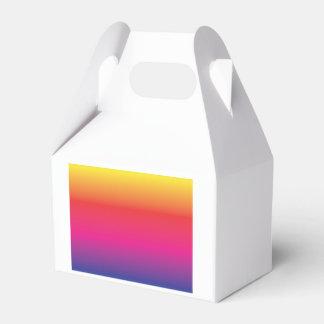 Plantilla de la imagen del arco iris caja para regalos