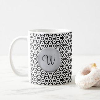 Plantilla de la inicial del monograma de la taza