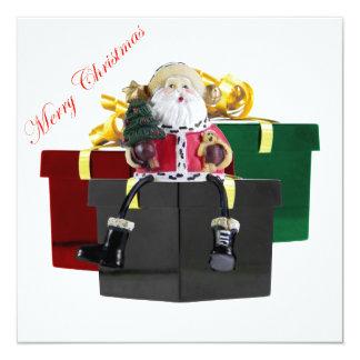 Plantilla de la invitación de los regalos de Santa