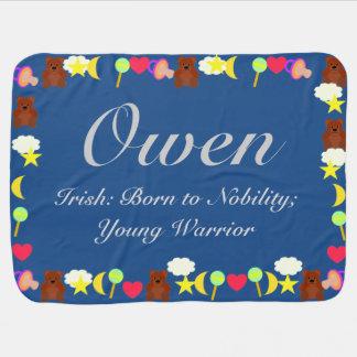 Plantilla de la manta del bebé de Owen