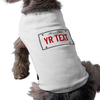 Plantilla de la placa camisas de perritos