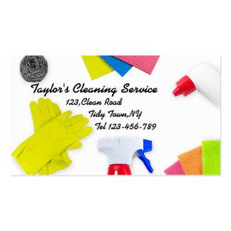 Tarjetas de visita para los profesionales de la limpieza