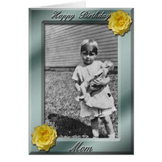 Plantilla de la tarjeta de la foto de la mamá del