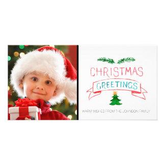 Plantilla de la tarjeta de la foto del navidad