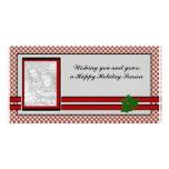 Plantilla de la tarjeta de la foto del navidad tarjeta fotográfica personalizada