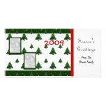 Plantilla de la tarjeta de la foto del navidad tarjeta fotografica