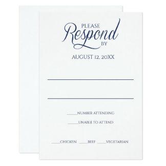 Plantilla de la tarjeta de la respuesta de RSVP de