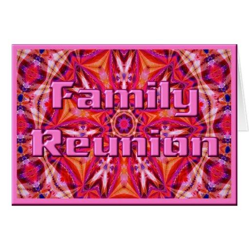 Plantilla de la tarjeta de la reunión de familia