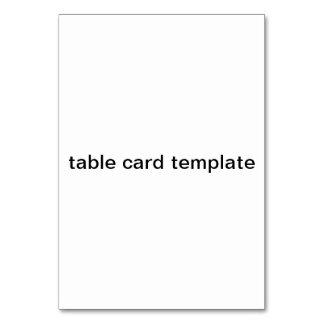 plantilla de la tarjeta de la tabla