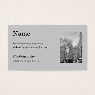 Plantilla de la tarjeta de la visita del fotógrafo