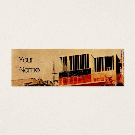 plantilla de la tarjeta de visita de construcción