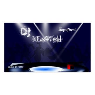Plantilla de la tarjeta de visita de DJ