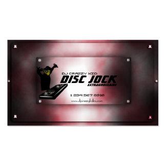 Plantilla de la tarjeta de visita de DJ del atleta
