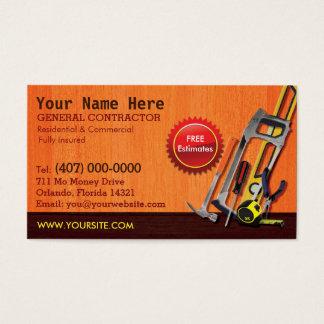 Plantilla de la tarjeta de visita de general