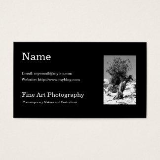 Plantilla de la tarjeta de visita de la fotografía