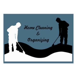 Plantilla de la tarjeta de visita de la limpieza