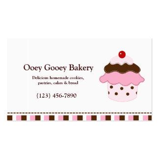 Plantilla de la tarjeta de visita de la panadería