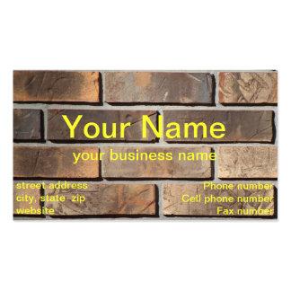 Plantilla de la tarjeta de visita de la pared de l