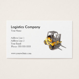Plantilla de la tarjeta de visita de Logistics