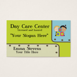 Plantilla de la tarjeta de visita de los niños de