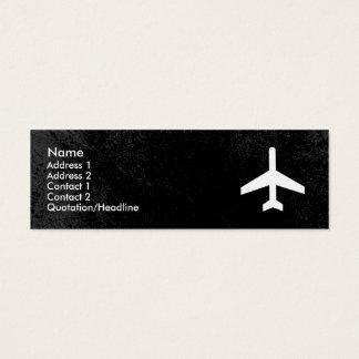 Plantilla de la tarjeta de visita del aeroplano