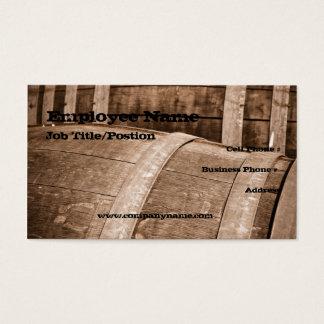 Plantilla de la tarjeta de visita del barril de