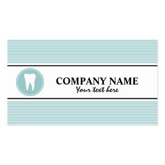 Plantilla de la tarjeta de visita del cuidado dent