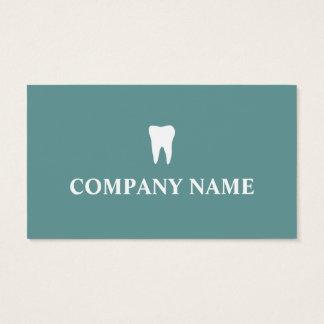 Plantilla de la tarjeta de visita del dentista con