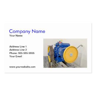 Plantilla de la tarjeta de visita del motor del el