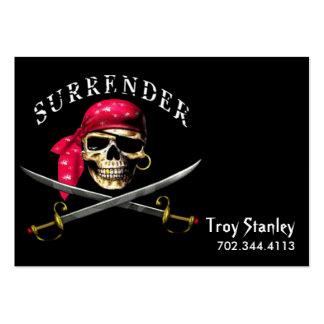 Plantilla de la tarjeta de visita del pirata de la