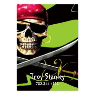 Plantilla de la tarjeta de visita del pirata del