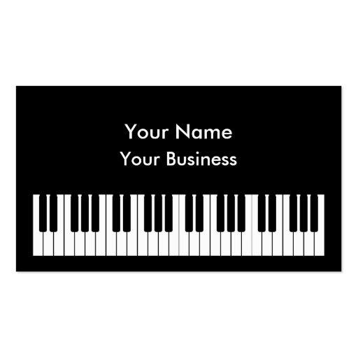 Plantilla de la tarjeta de visita del teclado de p