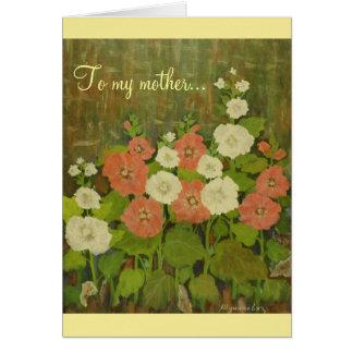 Plantilla de la tarjeta del día de madre