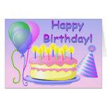Plantilla de la tarjeta del feliz cumpleaños
