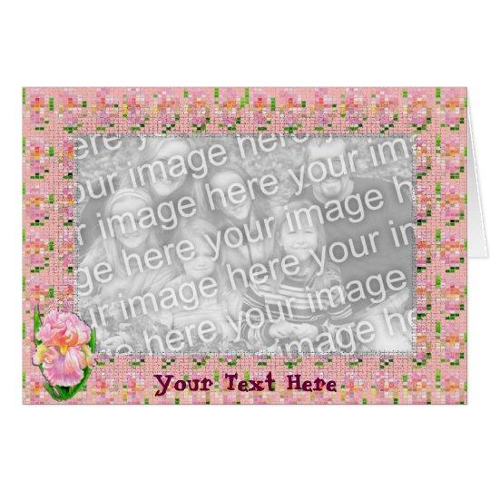 Plantilla de la tarjeta - iris rosado