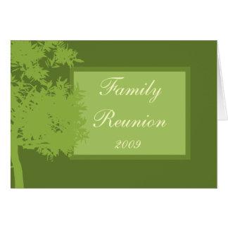 Plantilla de la tarjeta - reunión de familia