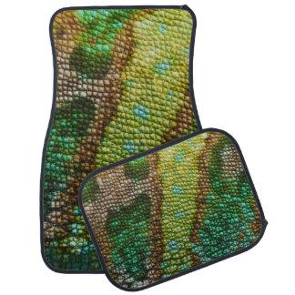 Plantilla de la textura de la piel del camaleón alfombrilla de coche