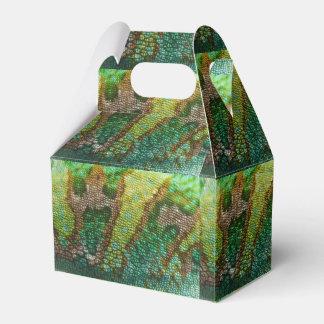Plantilla de la textura de la piel del camaleón cajas para regalos