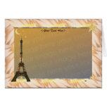 Plantilla de la torre Eiffel Tarjeta